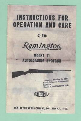 Remington Model 572 Earlier Factory Owners Instructions Manual Reproduction