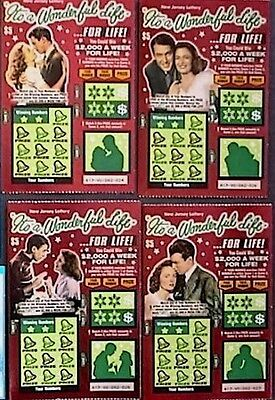 Its A Wonderful Life  Nj   Instant Sv Lottery Ticket Set Of 4 Different