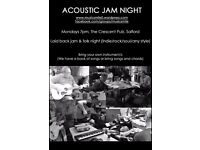 Acoustic song and jam night / guitar group
