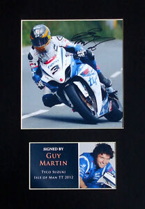 Guy Martin TT Isle of Man Signed Mounted Photo Display Autograph 2012