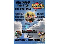 Kids Community Car Boot Sale - Indoor Table Top - SUN 22ND JULY 2018