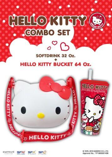Hello Kitty Special Edition Popcorn Bucket Softdrink Cup Genuine Sanrio License