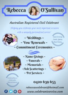 Celebrant - Wedding-Funeral-Naming - Rebecca O'Sullivan Celebrant