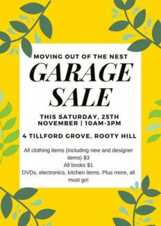 Garage Sale - Rooty Hill