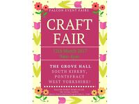 Craft Fair, At The Grove Hall South Kirkby Pontefract Sunday12th March 2017 9.00 am- 4.pm