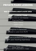 Private Piano Lessons - Mid Year Enrolment Now Open Lane Cove North Lane Cove Area Preview