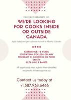 LMIA Available for COOK/CHEF position!