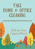 Fall cleaning special on NOW. $10 OFF PER HOUR !!!!
