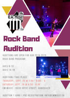 Kids/Teens Rock Band Auditions