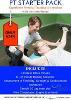Personal Training Introductory Starter Pack only $249
