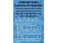Seeking Private Landlords in Hampshire......