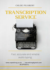 Transcription/audio typing available