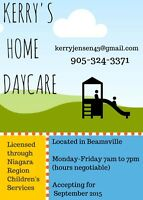 Beamsville home daycare