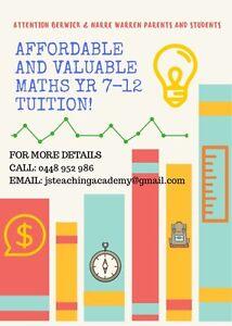 Maths Tutorial - Berwick (Yr 7-12) Berwick Casey Area Preview