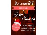 YOGA CLASSES AT WOOLWICH COMMON COMMUNITY CENTRE!