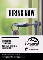NOW HIRING EXPERIENCED MORTGAGE AGENTS