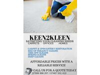 KEEN2KLEEN CONTACT US TODAY! END OF TENANCY - CARPET CLEANING - OFFICE CLEANING