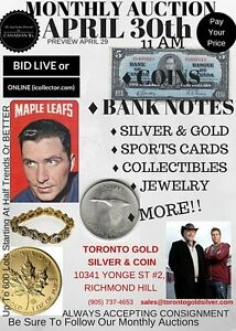 Paul & Bogart's MASSIVE COIN AUCTION Starts Apr.30th, @11:00 EST