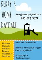Home day care in Beamsville