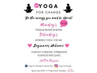 Yoga Classes Every Saturday Morning and Monday Evening