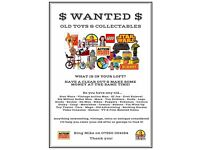Wanted Old Toys & Collectables