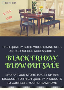 HUGE DISCOUNT SALE ON OUR DINING SETS AND ACCESSORIES
