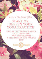 8 Evening yoga classes October-November