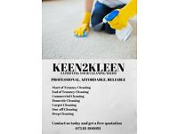 Keen2Kleen ] Bespoke Domestic Cleaning/Moving In or Out Cleans/Commercial Cleaning/Spring Cleaning