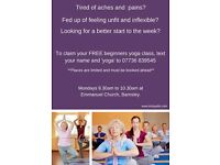 FREE yoga taster classes in Barnsley.