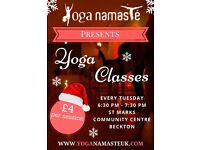 YOGA CLASSES AT ST MARKS COMMUNITY CENTRE