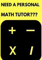 Female Math tutor