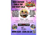 Kids Community Car Boot Sale - Indoor Charity Children's Table Top - Sun 25th Feb 2018