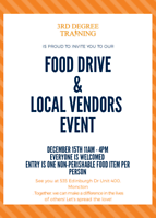 Food drive and local vendors event