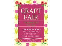 Falcon event Craft Fair The Grove Hall South Kirkby Pontefract