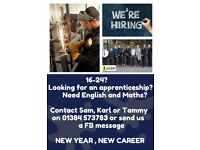 Apprenticeships and training for 16-24 Year Olds