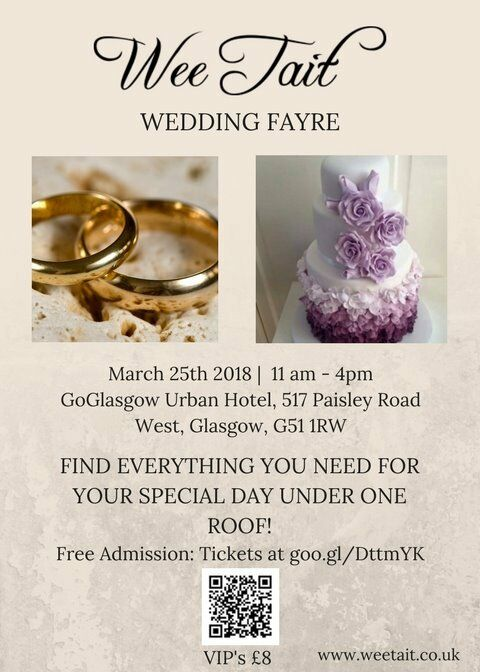 wee tait wedding fayre 25th march 18 goglasgow urban hotel exhibitors wanted
