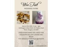 Wee Tait Wedding Fayre- 25th March 18 GoGlasgow Urban Hotel - Exhibitors wanted