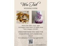 Wee Tait Wedding Fayre- 25th March 18 GoGlasgow Urban Hotel - Exhibitors wanted