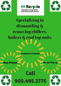Removal Rooftop Units   Boilers   Machinery & More