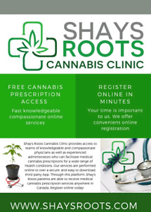 Free cannabis prescription access and grow support.