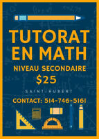 Tutorat en MATH et SCIENCES bilingue