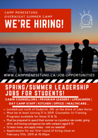Hiring Summer Camp Staff: Cook, Counsellors, Lifeguards, & more!