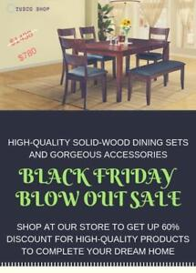TUSCO SHOP- BLOW OUT SALES FOR OUR DINING SETS AND ACCESSORIES - BRAND NEW ITEMS
