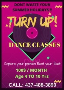 Dance classes in summer holidays
