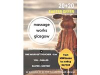 EASTER OFFER: 20+20 Massage PLUS Gift Voucher. A treat for you and a lovely gift!
