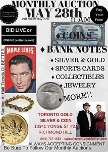 Paul&Bogarts Coin Jewellery Gold Silver Auction May28 Bid Online