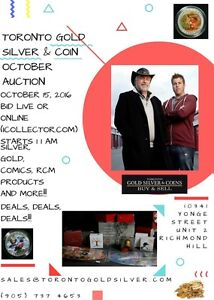 AUCTION OCTOBER 15TH COINS SILVER AND GOLD
