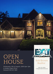 OPEN HOUSE Wednesday August 8th 5pm-7pm at 8 Golden Eagle Drive
