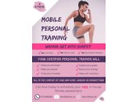 Mobile Personal Trainer - No gym fees. No contract. No equipment needed.