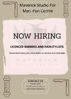 Hiring Barbers and Hairstylists